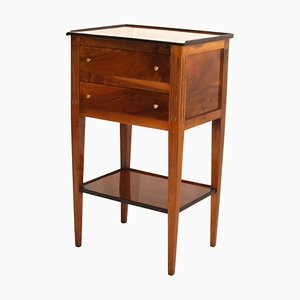 Petite Empire French Polished Pillar Cabinet in Walnut, France, 1810