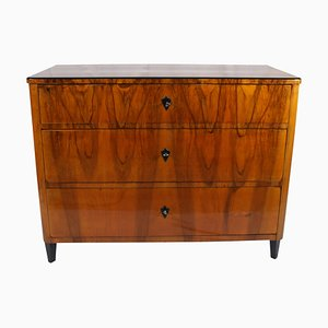 Biedermeier Commode or Chest of Drawers in Walnut Veneer, South Germany, 1830s