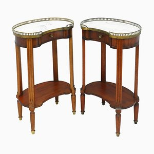 Antique French Louis XVI Nightstands, 1910, Set of 2