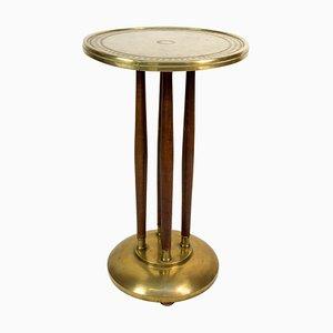 Art Nouveau Brass Pedestal, 1910s