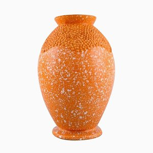 Art Deco Vase in Glazed Ceramic by Andre Fau for Boulogne, 1940s