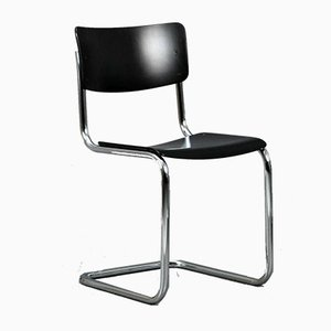 Black S 43 Cantilever Chair by Mart Stam for Thonet, 2000s