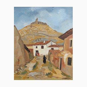 Peinture à l'huile Street par Yves Brayer, Espagne, 1955