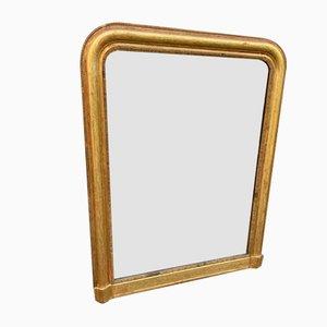 Großer antiker geschnitzter französischer Spiegel mit Geschnitztem Holz & Gesso Gewölbter Decke &amp