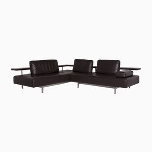 Brown Leather Corner Sofa from Rolf Benz