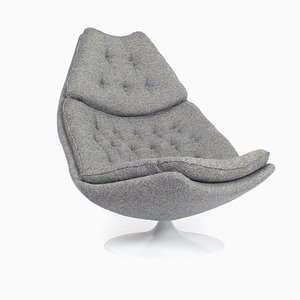 F588 Swivel Armchair in Kvadrat Fabric by Geoffrey Harcourt for Artifort, 1960s