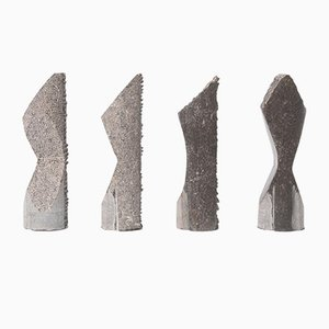 Sculptures Abstraites Bluestone par Jorg Van Daele, 2000s, Set de 4