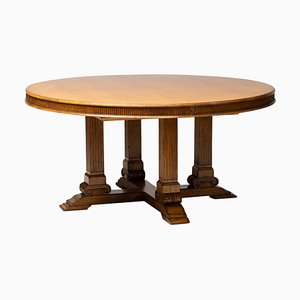 Large Round Extending to Oval Hither Hills Dining Table from Ralph Lauren
