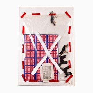 Oeuvre d'Art Bingo Dog par Philip Lorenz, 1990s
