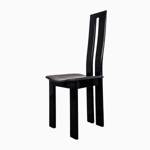 Mid-Century Black Dining Room Chairs by Pietro Costantini, Set of 8