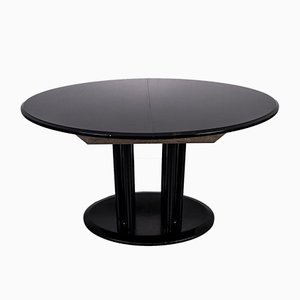 Mid-Century Black Dining Table, 1970s