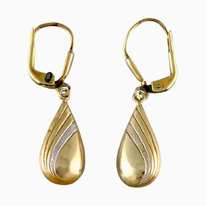 Scandinavian 4 Carat Gold Earrings, Set of 2