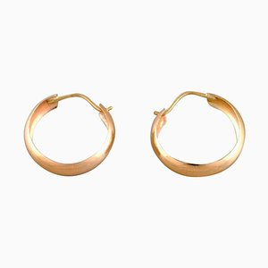 Scandinavian 18 Carat Gold Earrings, Set of 2