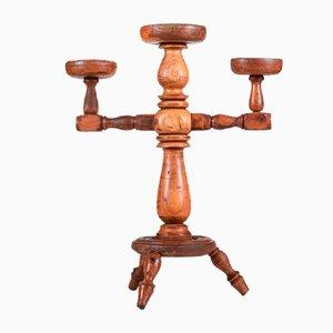 Italian Wooden Candleholder, 1900s