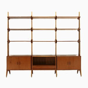 Italian Modernist Teak Wall Unit, 1950s