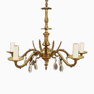 Vintage Brass Ceiling Lamp, 1970s
