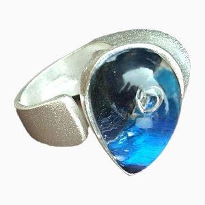 Ara Ring aus Acryl & Plexiglas Sterling Silber 925 von Björn Weckström für Lapponia, 1979