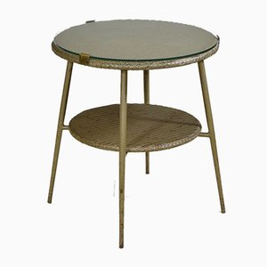 Occasional Side Table on Metal Splayed Legs from Lloyd Loom, 1950s