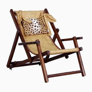 Wooden Children's Deck Chair, 1940s
