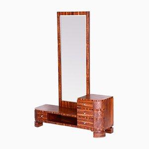 Czech Art Deco Brown Thuja Dressing Mirror, 1930s