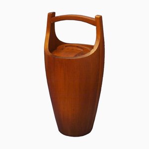 Large Teak Ice Bucket by Jens Quistgaard for Dansk Design, 1950s