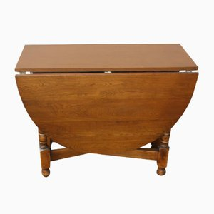 Oak Drop-Leaf Gate-Leg Table, 1940s