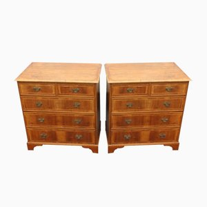 Antique Mahogany Chest of Drawers, 1900s, Set of 2
