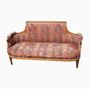 Edwardian Elegant Shaped Mahogany Chaise with Inlay