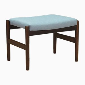 Mid-Century Light Blue Oak Ottoman, 1970s