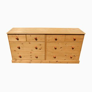 Country Pine Merchants Double Chest of Drawers, 1960s
