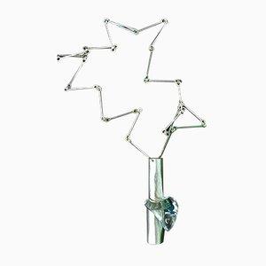 Ice Heart Halskette aus Acrylglas & Plexiglas in Sterlingsilber von Björn Weckström für Lapponia, 1978