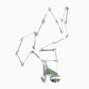 Collar Monolith de plata esterlina acrílico y lucite de Björn Weckström para Lapponia, 1978