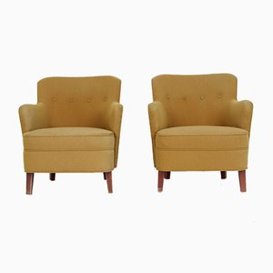 Vintage Danish Club Chairs, 1940s, Set of 2