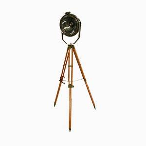 Italian Tripod Ship Floor Lamp, 1950s