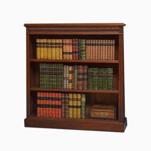 Viktorianisches offenes Bücherregal aus Nussholz