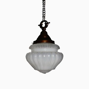 Art Nouveau Vaseline Pendant Lamp
