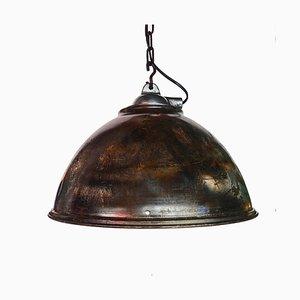 Lámpara colgante de acero con pátina natural, años 50