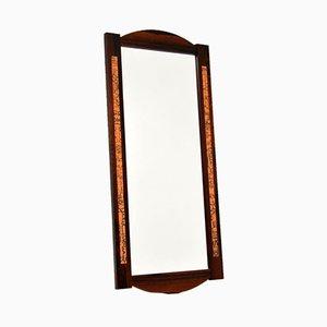Vintage Danish Rosewood & Copper Mirror, 1960s