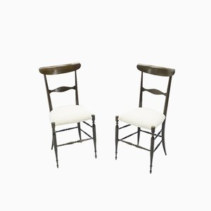 Walnut Dining Chairs by Fratelli Levaggi & Giuseppe Gaetano Descalzi for Campanino Chiavari, 1950s, Set of 6
