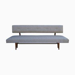 Sofá cama gris de Franz Hohn, años 60