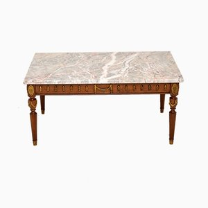 French Marble Top Coffee Table, 1950s