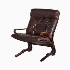 Vintage Rosewood Siesta Armchair by Ingmar Relling for Westnofa, 1960s