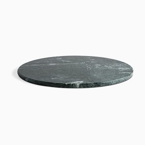 Round Green Marble Cheese Plate from Fiammettav Home Collection