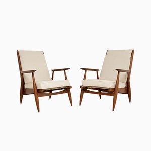 Danish Oak Armchairs, 1960s, Set of 2