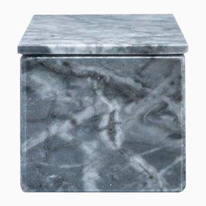 Quadratische Box aus grauem Marmor von Fiammettav Home Collection