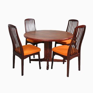 Rosewood Dining Table & Chairs Set from Svegards, 1960s, Set of 7