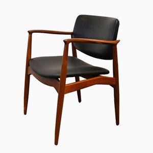 Chaise de Capitaine en Teck par Erik Buch pour Ørum Møbler
