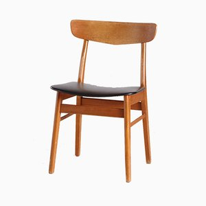 Vintage Danish Leatherette Dining Chair, 1960s