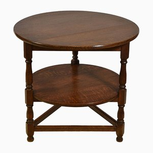 Antique Oak Occasional Cricket Type Table from Heal's, 1900s