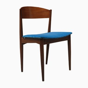 Mid-Century Danish Azure Velvet Dining Chairs, 1960s, Set of 6